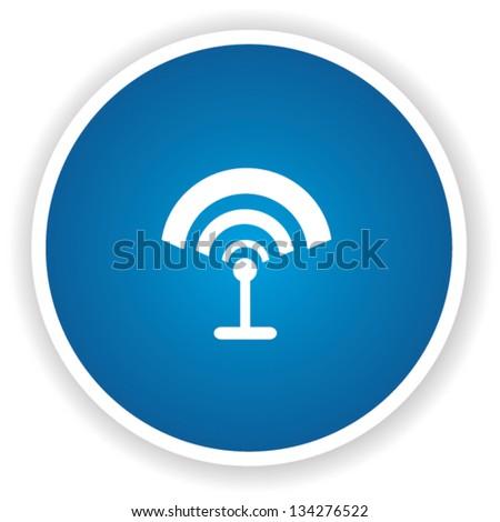 Wireless sign button,vector - stock vector