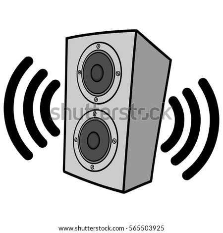 wireless speakers illustration stock vector 565503925