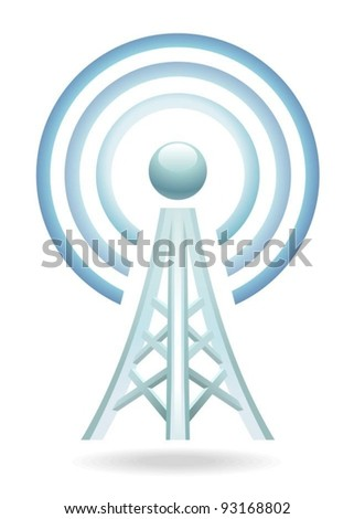 wireless tower - stock vector