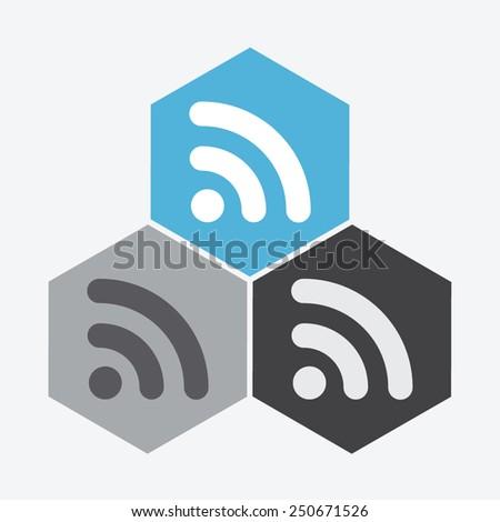 Wireless vector icon. - stock vector
