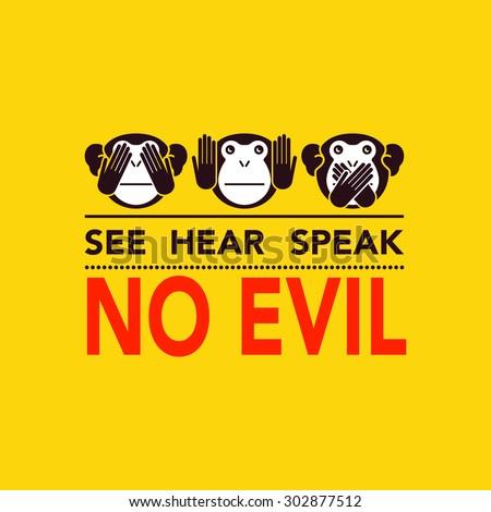 Wise monkey. Vector illustration - stock vector