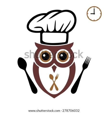 Wise Owl Fork Spoon Stock Vector 278706032 - Shutterstock