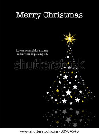 Wish You a Merry Christmas Card. Vector - stock vector