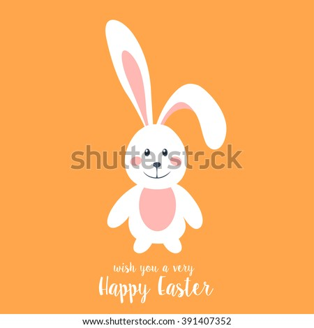 Wish You a Very Happy Easter. Vector illustration