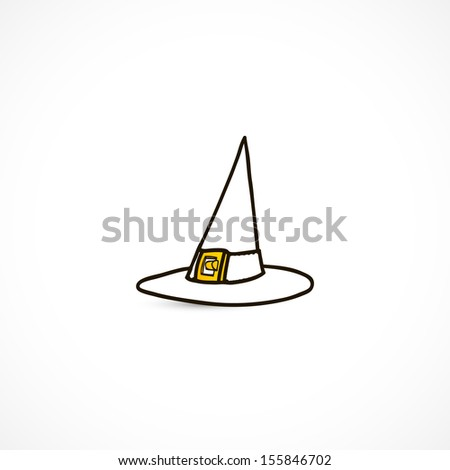 witch Hat - stock vector