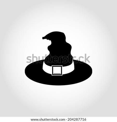 Witch hat Icon Isolated on White Background - stock vector