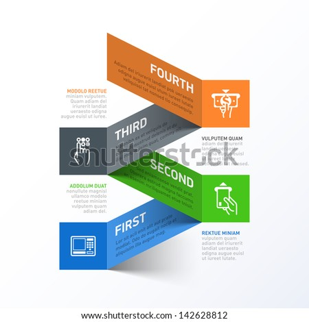 Withdrawing cash from an ATM abstract infographics template. Vector. - stock vector