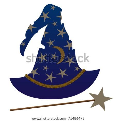 Wizards Hat - stock vector