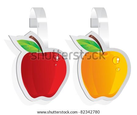 wobbler - ripe apple - stock vector
