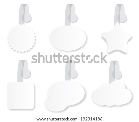 Wobbler with Transparent Strip illustration - stock vector