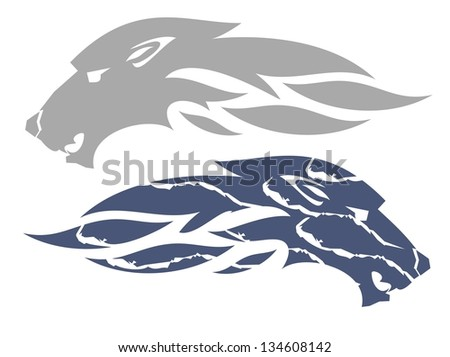 Wolf flame symbol. Wolf head symbol ready for labels, sports emblems, stickers and T-shirt designs. Ready for vinyl cutting and engraving - stock vector