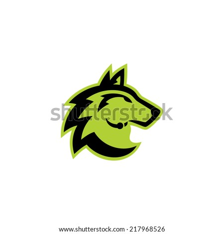 Wolf head sign Branding Identity Corporate vector logo design template Isolated on a white background - stock vector