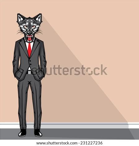 Wolf Man vector - stock vector