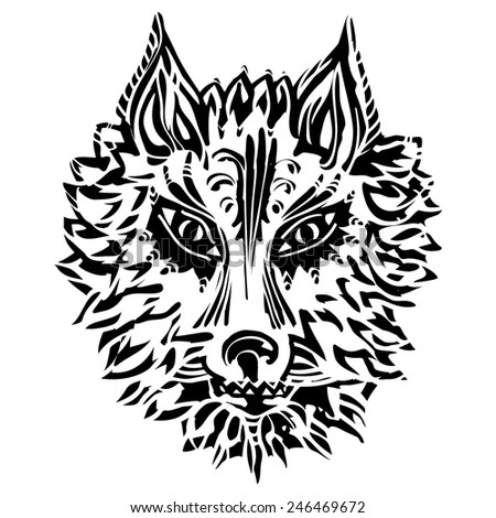 Wolf Symbol Loyalty Strength Stock Vector Royalty Free 246469672
