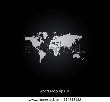 Wolrd Map Background - stock vector