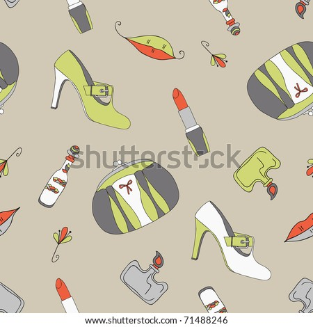 woman accessories seamless - stock vector