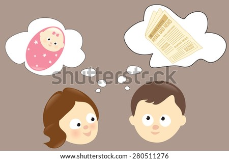 Woman and man concept - stock vector