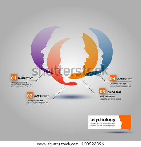 Woman and Man profiles face - stock vector