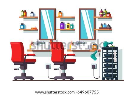 Woman Beauty Hairdressing Salon Interior Design Stock