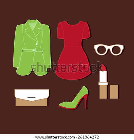 Woman clothes - stock vector