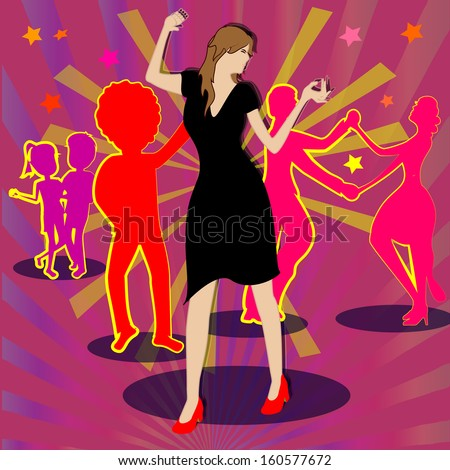 woman dancing alone while everyone have a partner