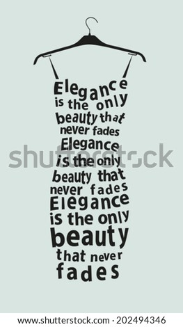 Woman dress made from  the quote. Vector - stock vector