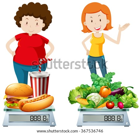 stock-vector-woman-eating-healthy-and-un