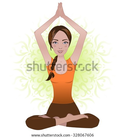 Woman exercising yoga pose. Yoga training. Yoga meditation.