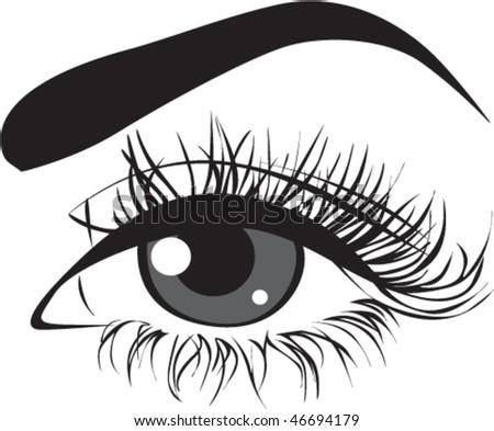 Woman eye. Vector - stock vector