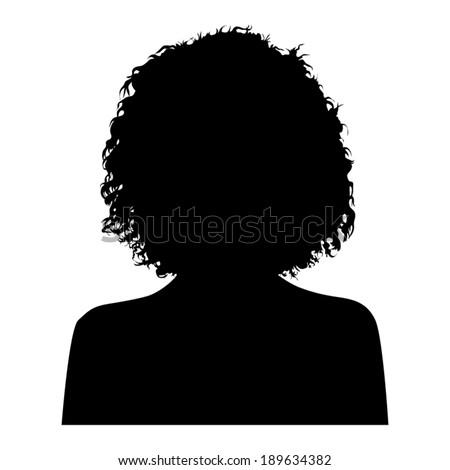 Woman Head Silhouette - stock vector