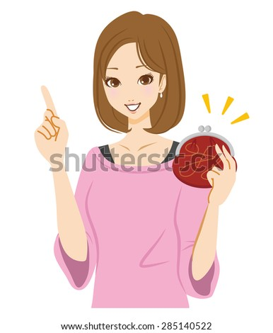 Woman money - stock vector