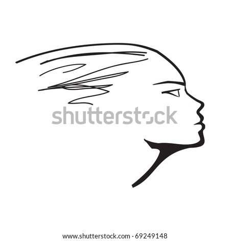 Woman profile - stock vector