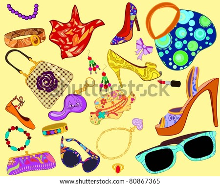 Woman's accessory - stock vector