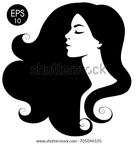 womans black silhouette vector fashion portrait stock vector 2018 rh shutterstock com face silhouette vector free man face silhouette vector
