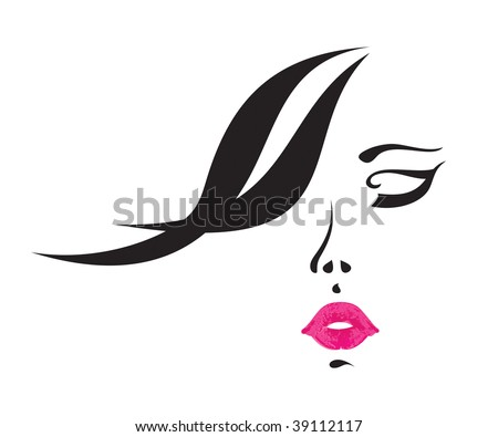 Woman's face - a drawing of a woman's face. - stock vector
