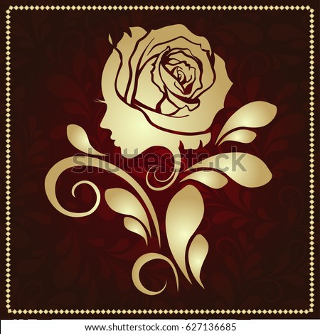 Womans face flower female vector logo stock vector for Abstract beauty salon