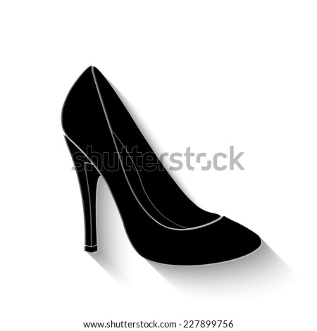 woman's shoes icon - vector illustration with shadow