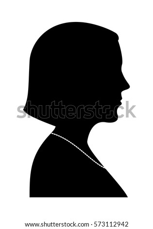 woman silhouette profile view
