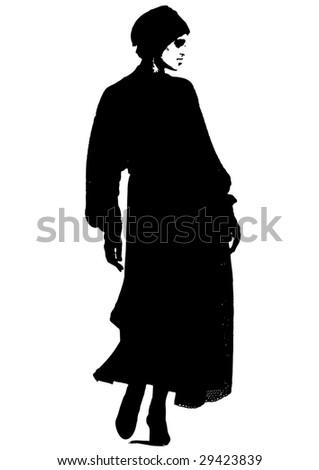 woman vector - stock vector