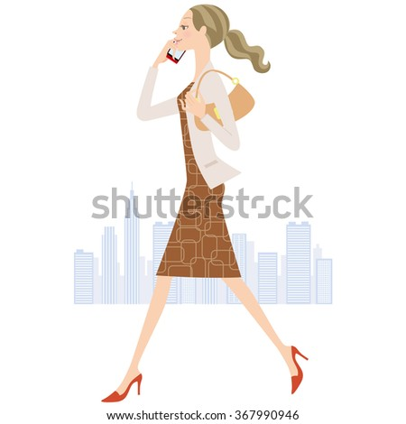 woman who calls while walking