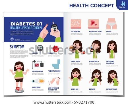 Woman Diabetes Diabetic Infographics Elements Medical Healthcare Concept  Stock Vector 598271708   Shutterstock