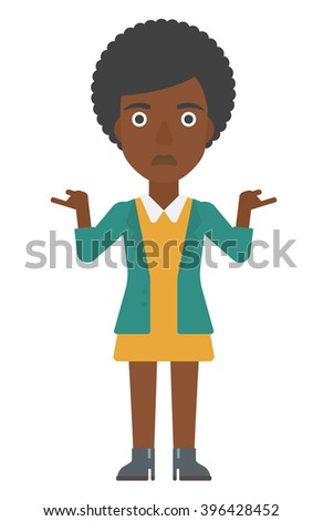 Woman with spread hands. - stock vector