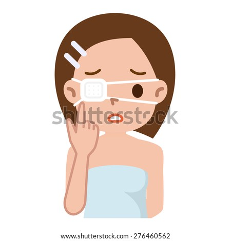 woman with the eyepatch  - stock vector