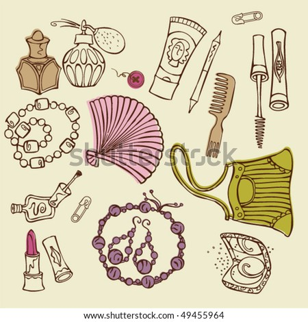 women accessories - stock vector
