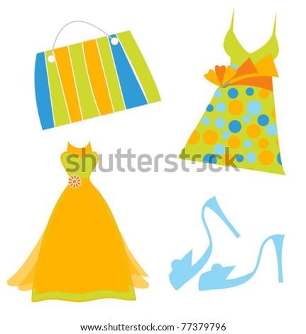 women accessories - stock vector