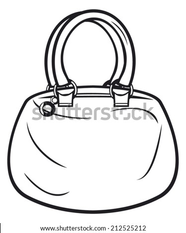 women bag (woman handbag) - stock vector