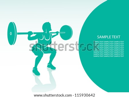 Women bodybuilding background - vector illustration - stock vector