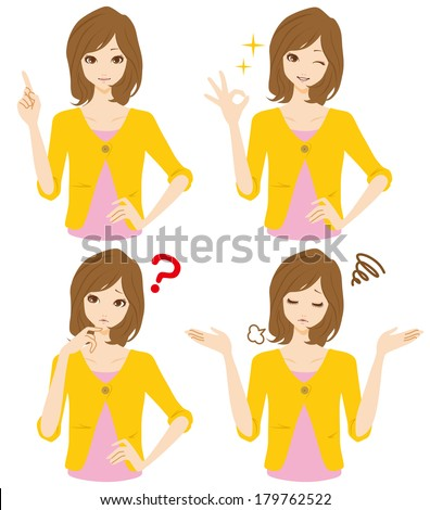 Women expression - stock vector