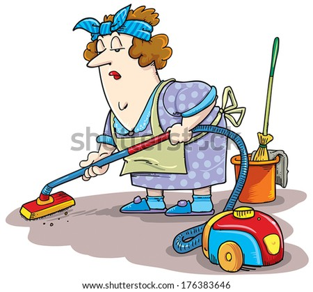 Women from cleaning service. - stock vector