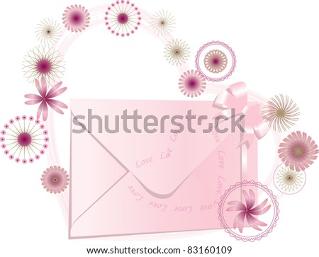 Women love mail - stock vector